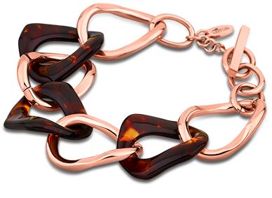 Lotus Style Damen-armband Stahl Rose
