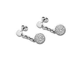 Lotus Style Damen-Ohrringe Silber Stahl mit Swarovski-Steine