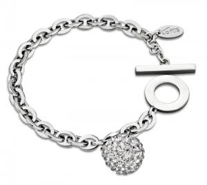 Lotus Style Damenarmband Stahl Silber mit Swarovski