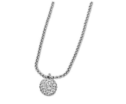 Lotus Style Kugelstahlkette Damen Silber