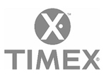 Timex Uhren Logo Schwarz Weiss